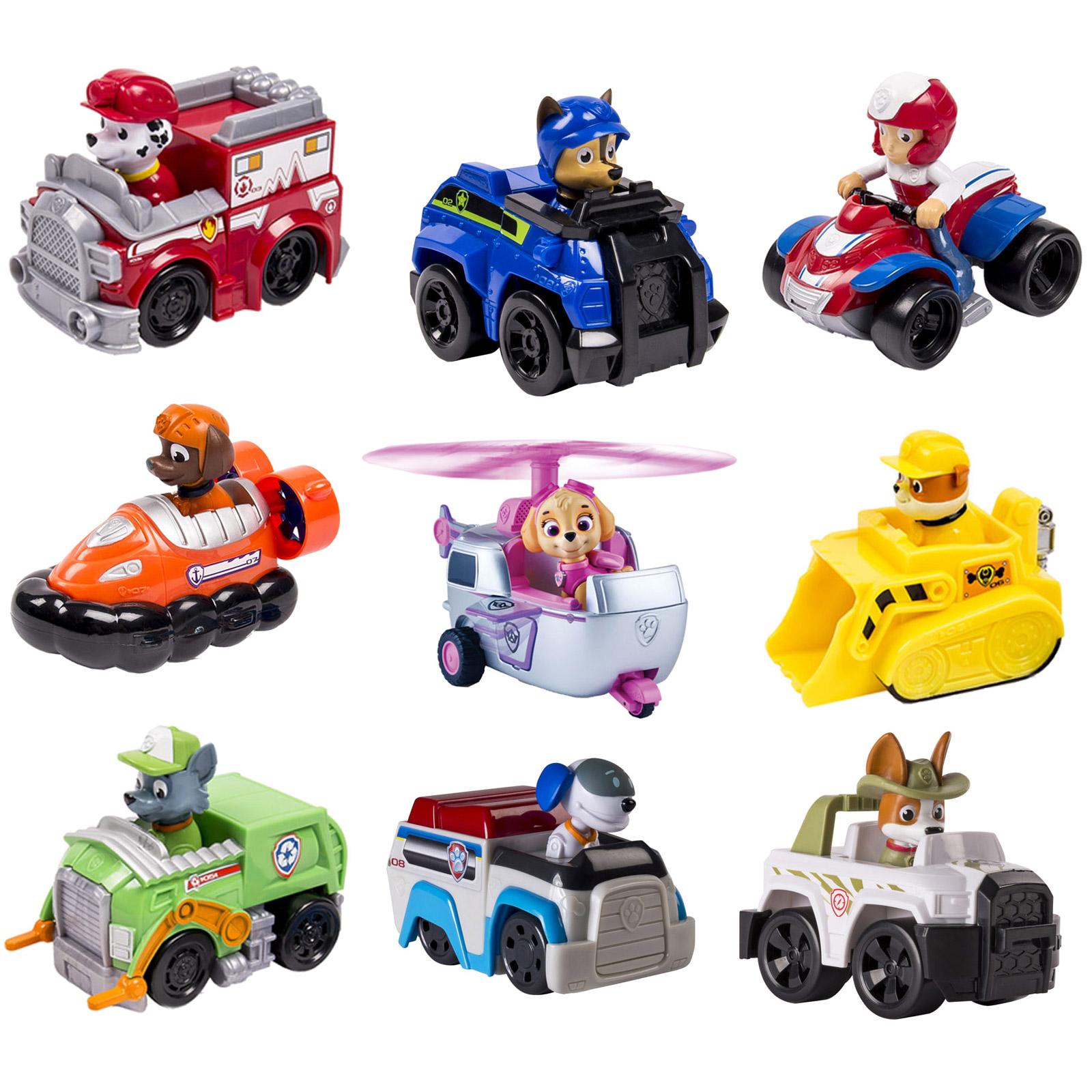 Paw patrol 3er set rescue racers kinder spielfigur for Kinderzimmer fahrzeuge