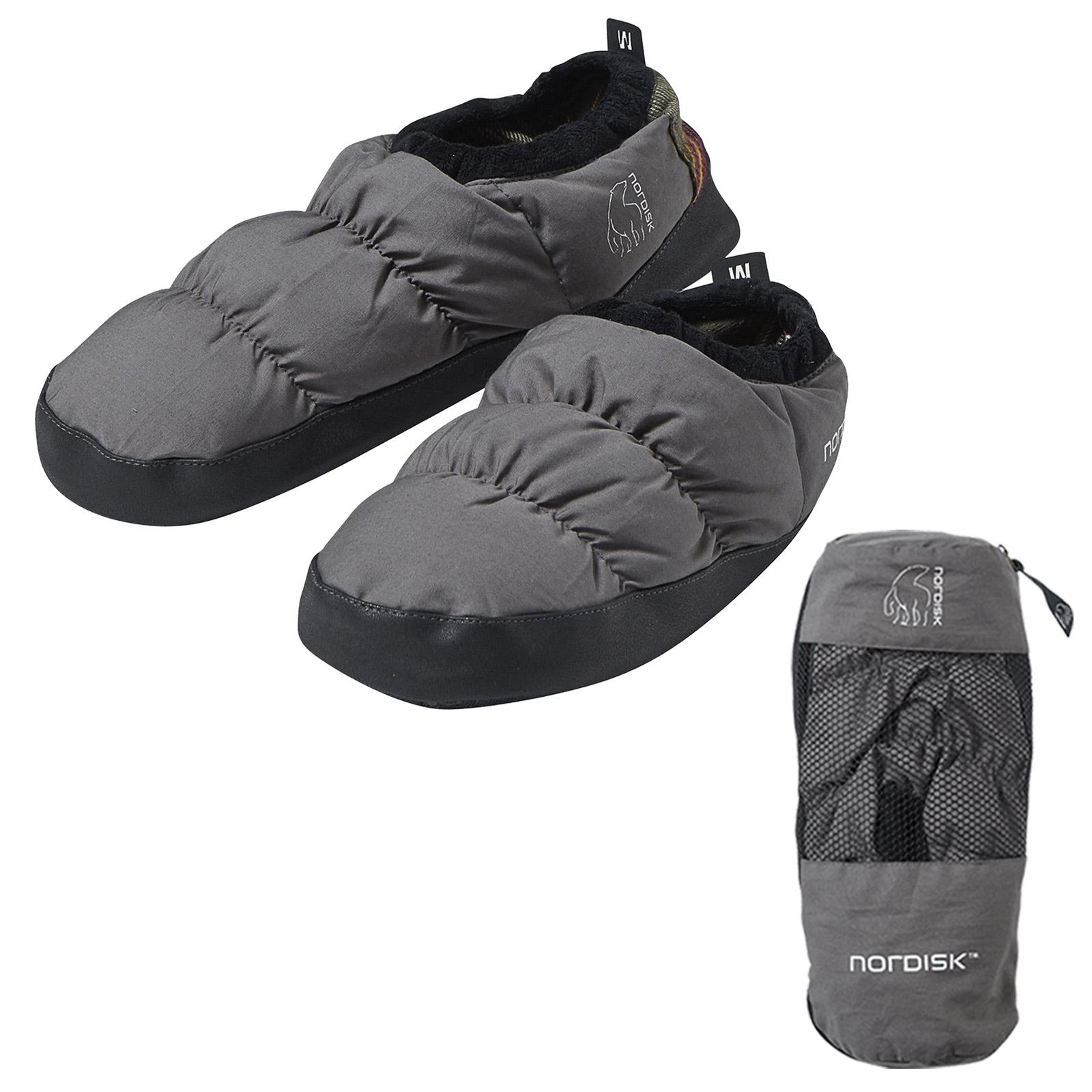 Details zu NORDISK Daunenschuhe Daunen Pantoffeln Puschen Hausschuhe Hüttenschuh Bettschuh