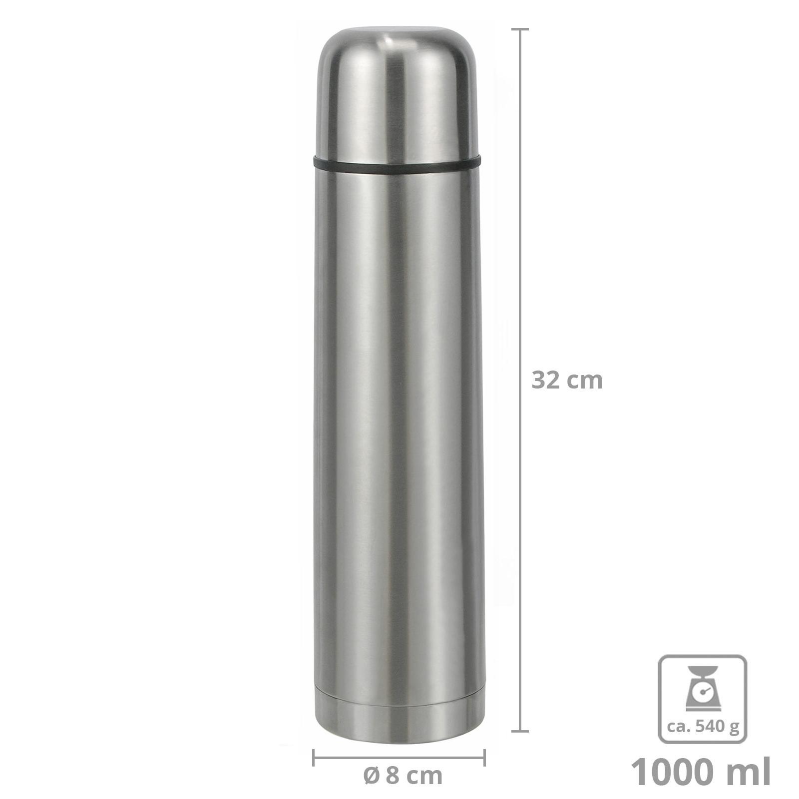 Vakuum-Isolierung KollyKolla Vakuum-Thermoskanne 1L Auslaufsichere Thermosflasche,BPA-freie Wasserflasche f/ür Sport Edelstahl Trinkflasche 1L