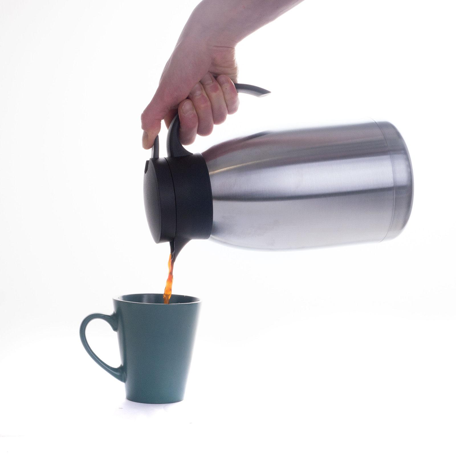 isolierkanne 2l isolierflasche thermo kanne kaffeekanne edelstahl gro ebay. Black Bedroom Furniture Sets. Home Design Ideas