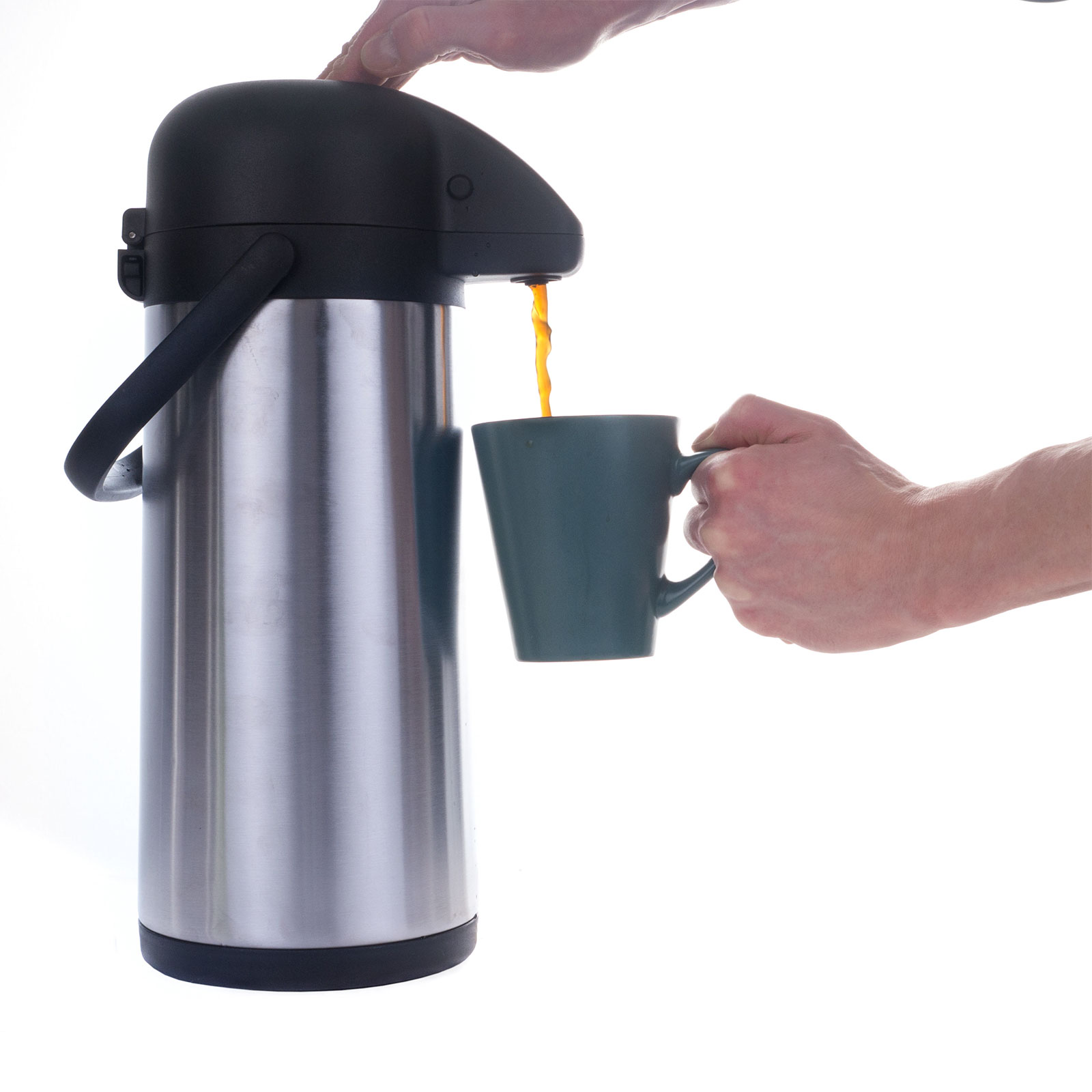 Kaffee Pumpkanne Airpot Kaffeekanne Thermospumpkanne Thermoskanne Isolierkanne