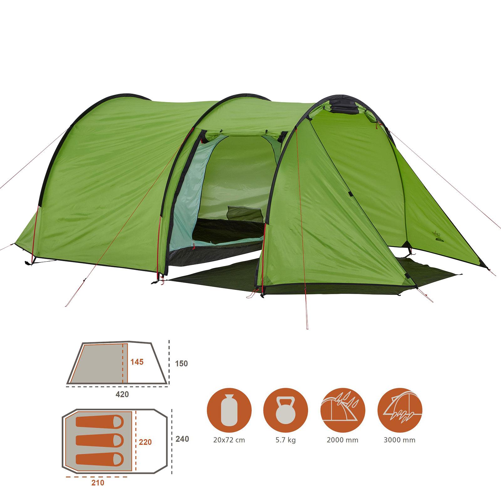 Grand Canyon Tente Cardova-einbogenzelt pour 1-2 personnes