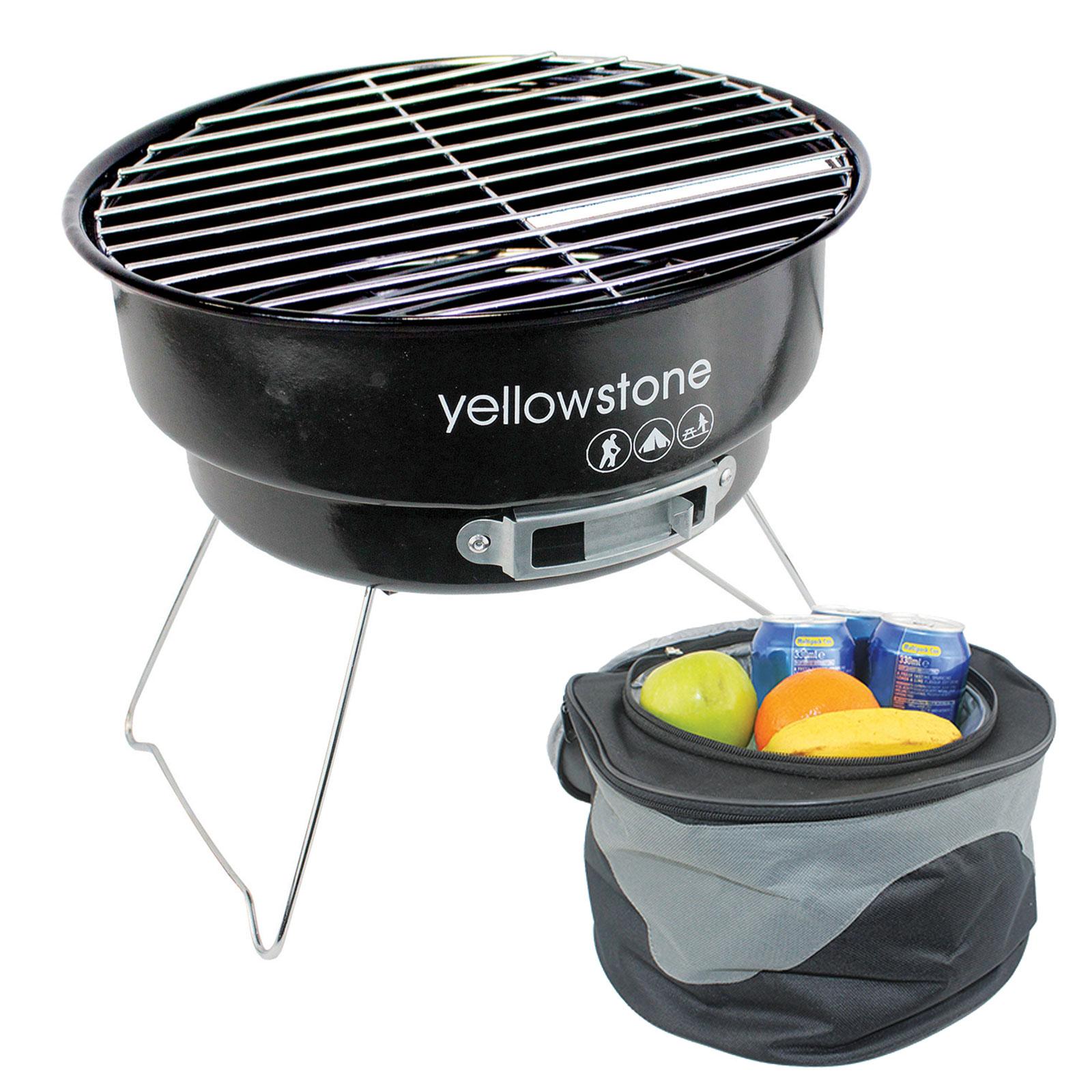 YELLOWSTONE BBQ Compact Minigrill Camping Rund Grill Klapp Kohle ...