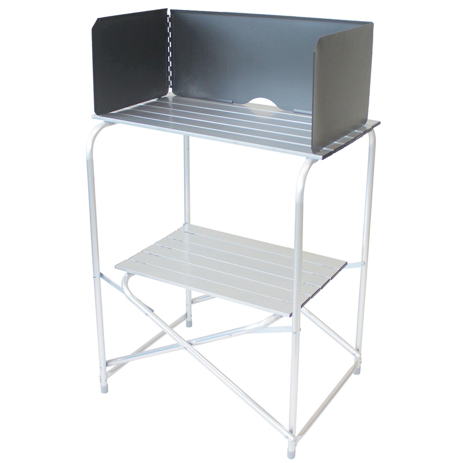 bocamp klapptisch alu camping koffer tisch falttisch