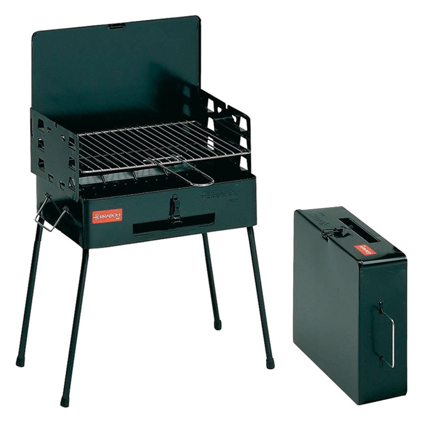 ferraboli koffergrill -camping grill holzkohlegrill klappgrill