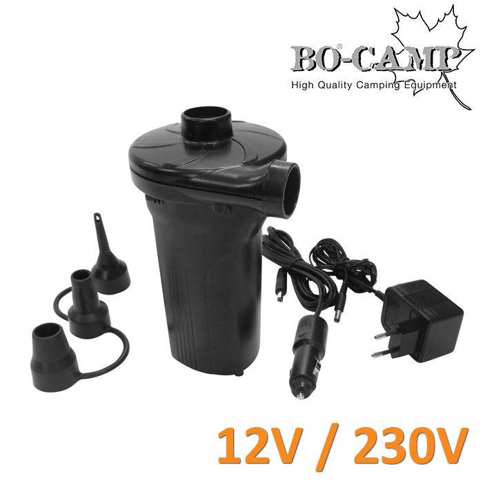 bo camp elektro akkupumpe luft pumpe camping akku mini kompressor 230 v 12 v ebay. Black Bedroom Furniture Sets. Home Design Ideas