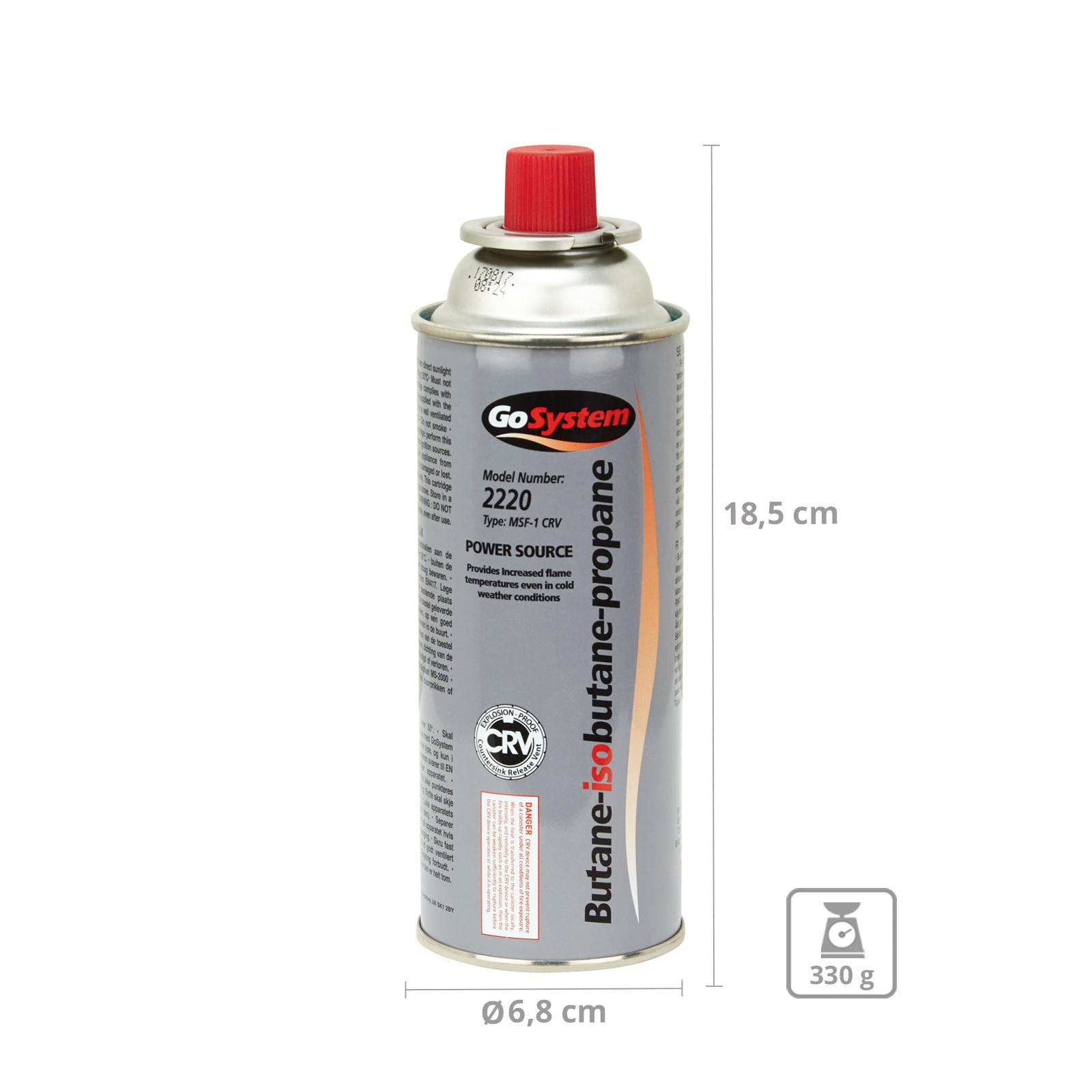28 x GO SYSTEM Ventil Gas Kartusche Camping Kocher Brenner Butan//Propan 227 g