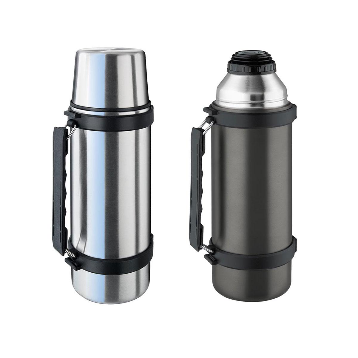 isosteel isolierflasche slimline 0 5 1 l thermoskanne flasche schraubverschluss ebay. Black Bedroom Furniture Sets. Home Design Ideas