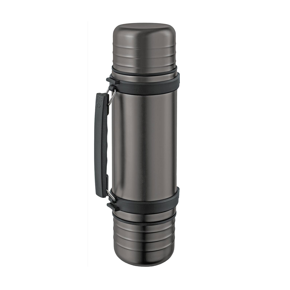 isosteel isolierflasche duo 1 l thermosflasche thermoskanne griff 2 iso becher ebay. Black Bedroom Furniture Sets. Home Design Ideas